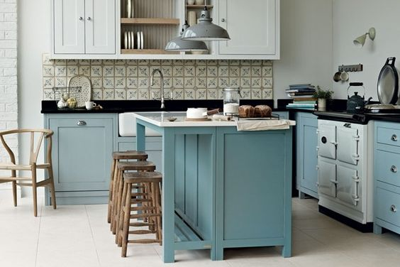 Romantick i funk n kuchyn v provens lsk m stylu domov21 for Deco de cocina azul blanco