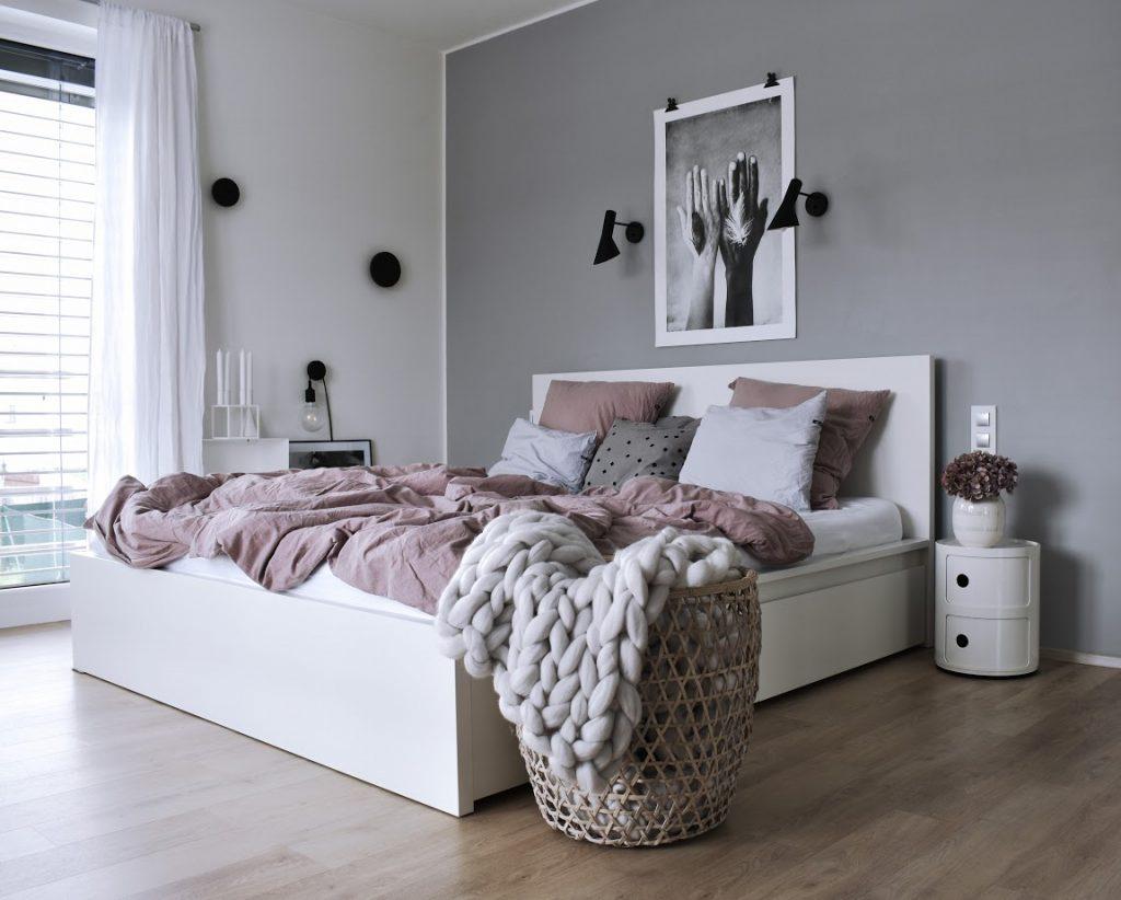 Inspirace na zařízení ložnice ve skandinávském stylu