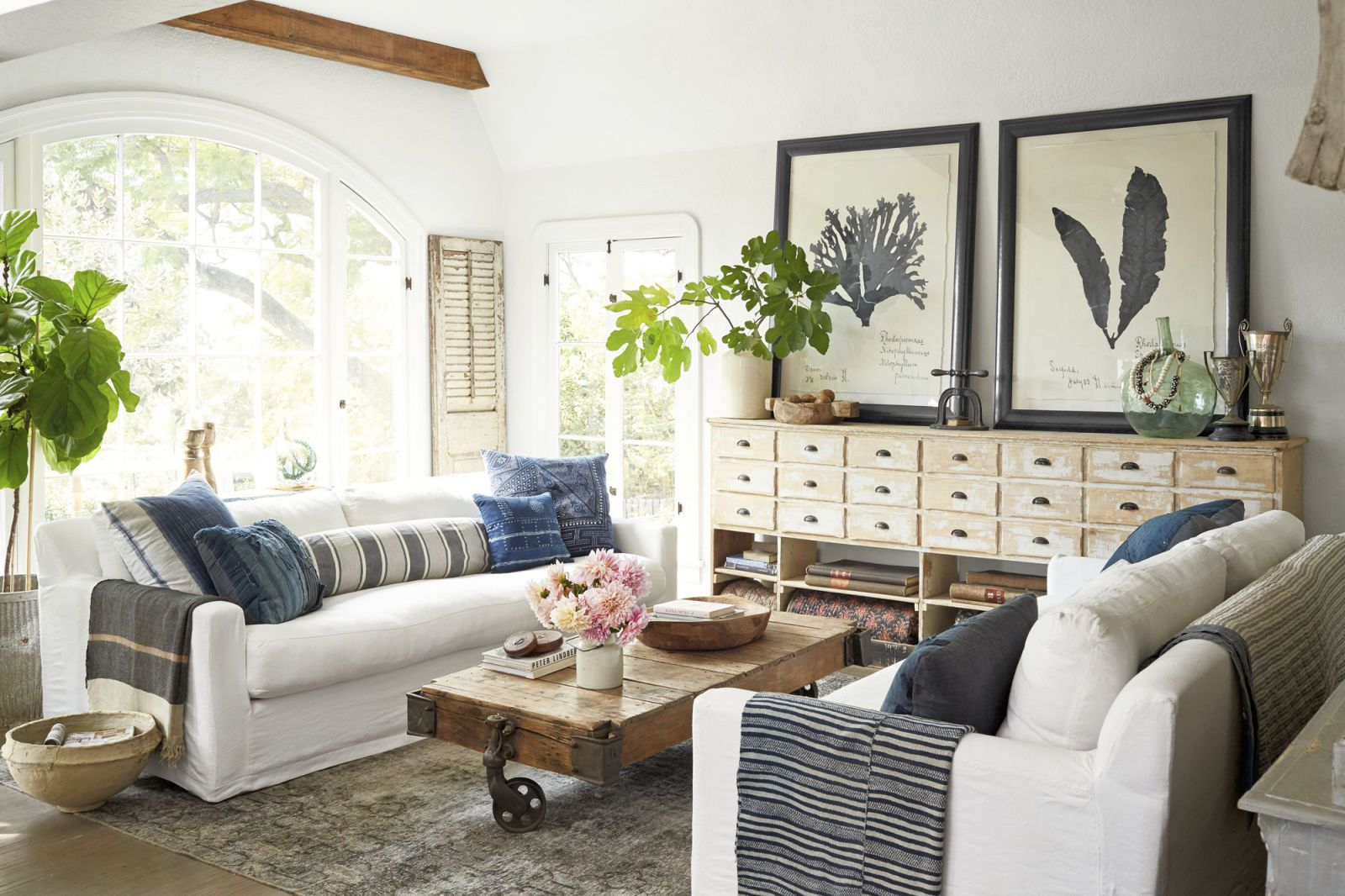 5 tipů, jak na zařízení obývacího pokoje ve venkovském stylu